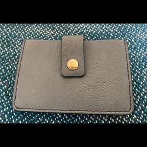 Fossil Mini Tab wallet. Holds many cards.